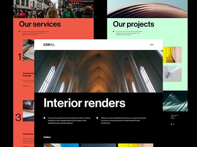 CDR — Website II version case study el salvador eddesignme church builders church design concept design interaction design web design layout design user experience type font design