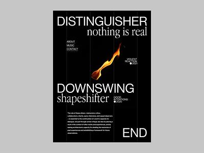 DSTNGR || DWNSWNG el salvador eddesignme ui challenge interaction design homepage design user experience layout design font exploration web design