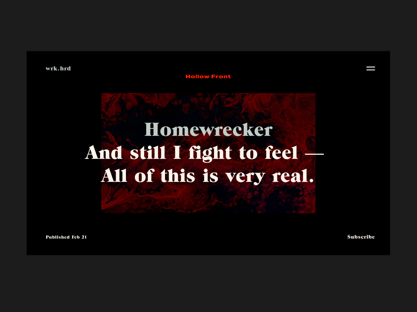 Homewrecker A Feeling By Eduardo Carballo Dribbble Dribbble