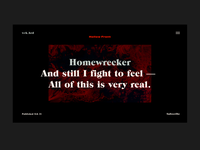+ Homewrecker + A feeling!