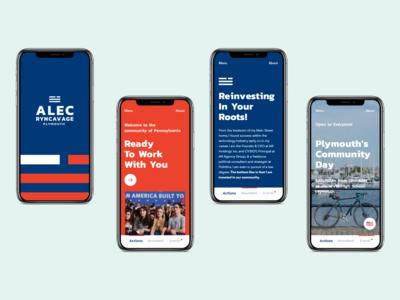 Mobile Interaction Design for Alec Ryncavage