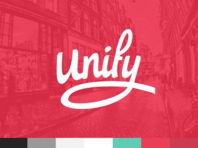 Unify   Branding Colors branding brand identity colors logo logotype typography design website