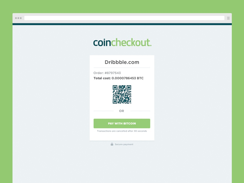 Coincheckout | Webdesign landingpage checkout webdesign payment order branding