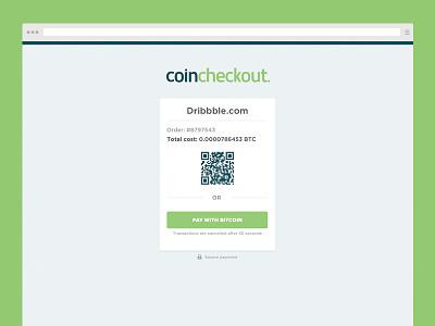 Coincheckout   Webdesign landingpage checkout webdesign payment order branding