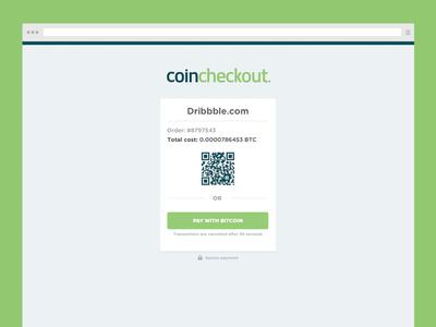 Coincheckout | Webdesign landingpage checkout webdesign payment order branding