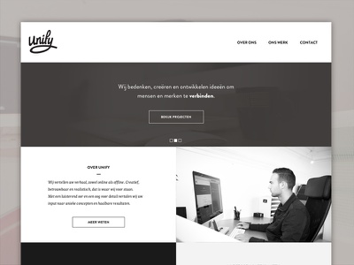 Unify   Site redesign webdesign redesign logotype logo unify reponsive website