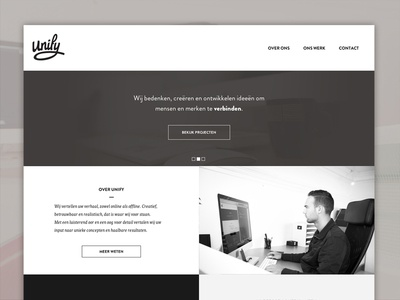 Unify | Site redesign webdesign redesign logotype logo unify reponsive website