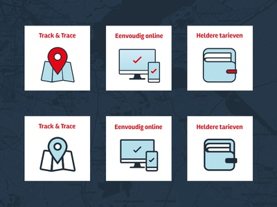 Loopjongens | Icons icon icons iconset flat ui design identity courier travelling