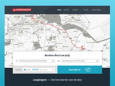 Loopjongens | Website identity webdesign design ui courier