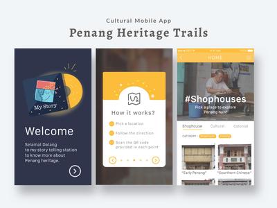 Cultural Mobile App design illustration ux ui interactive mobile design mobile apps uiuxdesign