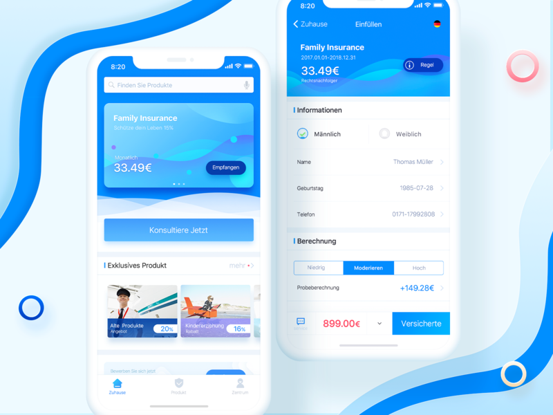 Airline ui  ux data clean design color blue app