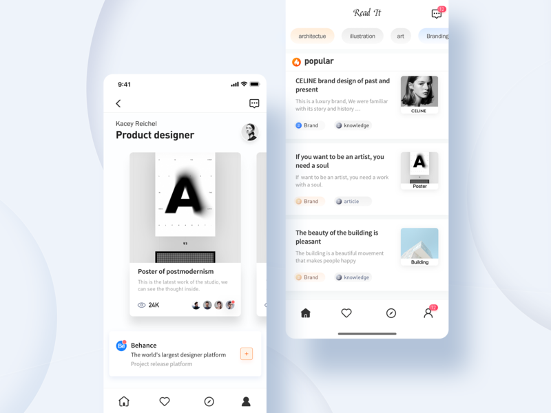 Read App typography branding blue design ui illustration color app
