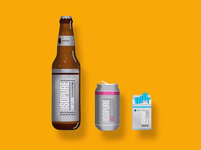 Health over Chill health fitness icon vector design illustraion cigarette packaging beer protein isopure