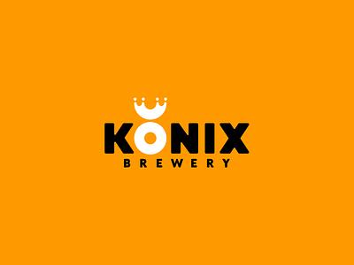 Logo Konix brewery ux ui dribbble idea symbol tipography logomark logo brand design vector print icon mark identity design logotype branding