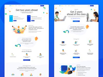 Website design for Edutech startup