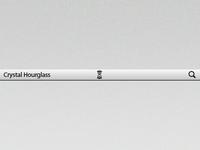 Crystal Hourglass - MenuBar