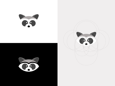 Raccoon Logo Icon Design Exploration v1 raccon animal mascot mascot icon character icon character design character logo mascot logo mascot design circle logo circle technique animal icon animal logo raccoon logo raccoon icon logo design raccoon