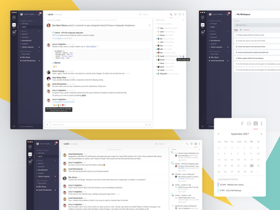 T4S - Threads for Slack Redesign dailyui13 dailyui message app direct messaging chat redesign flowdock slack threads