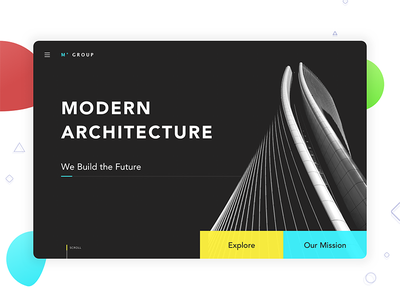 Architecture Landing Page - #weeklycreatives weekly designs daily ui presentation website landing page architecture weeklycreatives