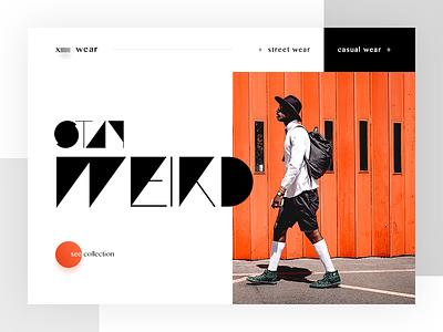 X Wear Fashion Landing Page - #weeklycreatives weekly designs weeklycreatives website presentation landing page daily ui stylish glamor fashion