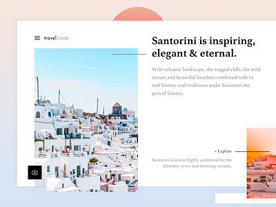 Santorini Landing Page Exploration - #weeklycreatives weekly designs weeklycreatives website presentation landing page daily ui stylish glamor greece santorini travel