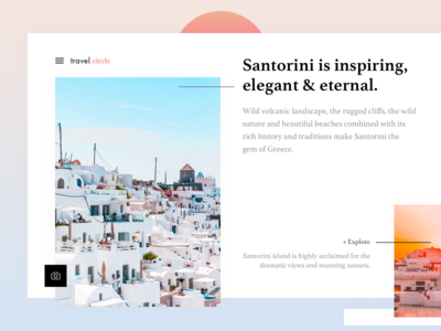 Santorini Landing Page Exploration - #weeklycreatives