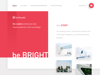 be.Facade Architecture Landing Page weekly designs weeklycreatives website presentation landing page daily ui property housing constructions architecture