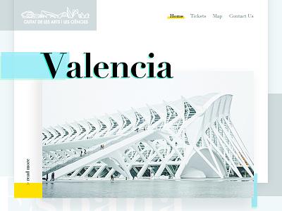 Valencia City of Arts - Redesign Concept Landing Page weekly design weeklycreatives website spain espana concept landing page redesign architecture city of arts valencia
