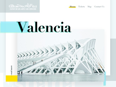 Valencia City of Arts - Redesign Concept Landing Page