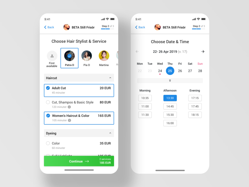 Salon Online Booking - Multi Services by Liviu Ang on Dribbble