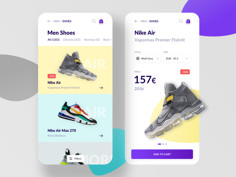 Online Store Nike Shoes App by Liviu Anghelina UXUI