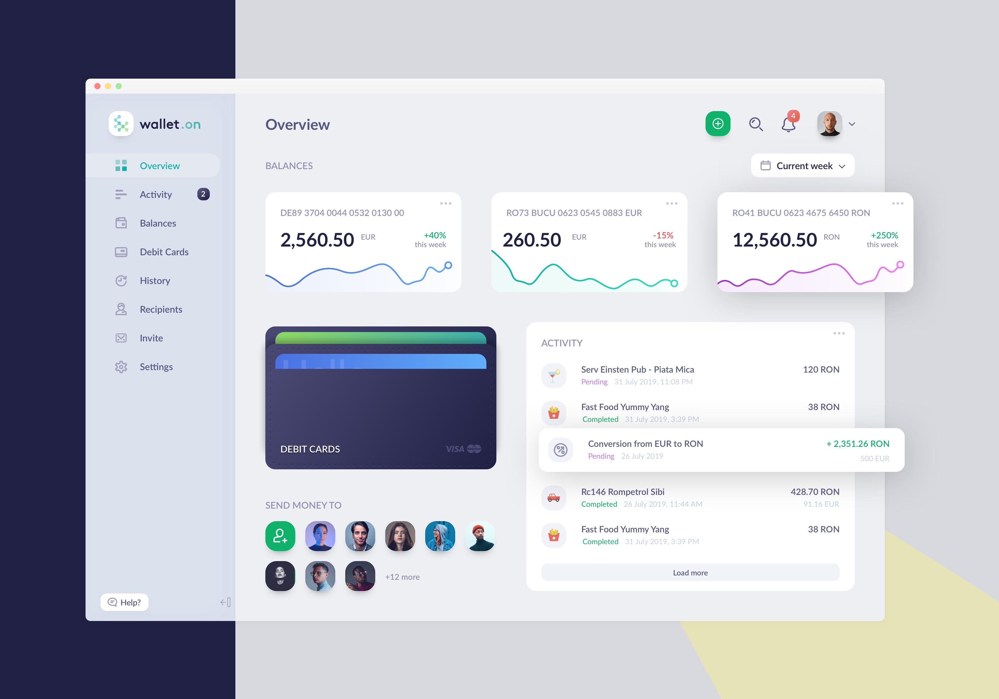 Wallet.on finance app