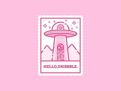 Hello Dribbble! minions ufo thanks hello shot first dribbble design debuts