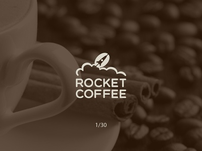 Rocket Coffee rocket coffee creative minimal simple logodesign logo futureform