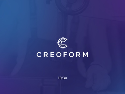 Creoform creoform dots thermoforming creative minimal simple logodesign logo futureform