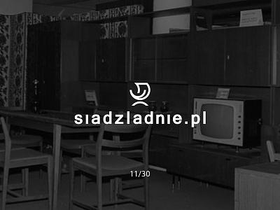 Siądźładnie.pl smilechair siadzladnie classy prl furniture futureform logo logodesign simple minimal creative