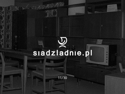 Siądźładnie.pl smilechair siadzladnie classy prl furniture futureform logo logodesign simple minimal creative