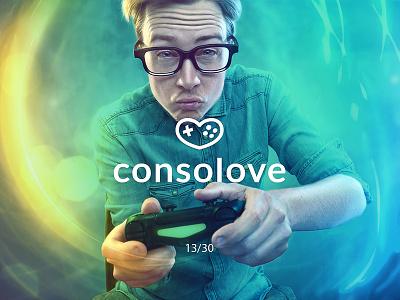 Consolove gameconsole consolove gamepad heart love creative minimal simple logodesign logo futureform