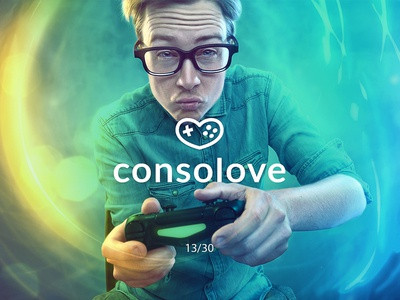 Consolove gameconsole consolove gamepad heart love creative minimal simple logodesign logo futureform