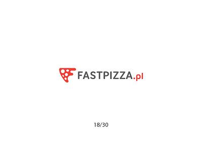 Fast Pizza speed fastpizza pizza creative minimal simple logodesign logo futureform
