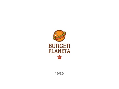 Burger Planeta cartoon hamburger planet burger fastfood creative minimal simple logodesign logo futureform