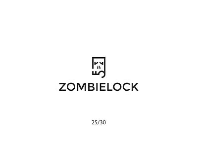 Zombielock secure zombielock lock key zombie creative minimal simple logodesign logo futureform
