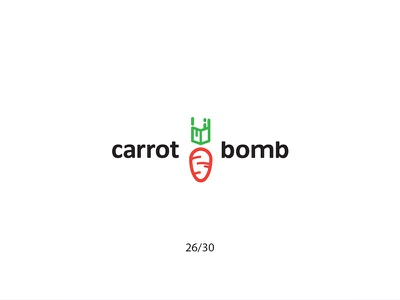 Carrot Bomb carrotbomb bomb carrot cartoon creative minimal simple logodesign logo futureform