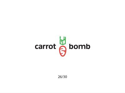 Carrot Bomb carrotbomb bomb carrot cartoon creative minimal simple logodesign logo futureform