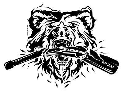 Bear Tengu clubbell bear aggressive creative tshirt tee vector tengu futureform