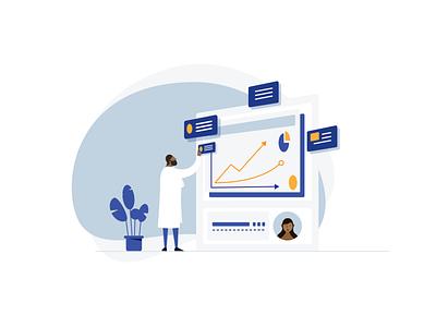 Medtrack Doctor Highres laboratory ui health care pharmaceutical medical app illustration
