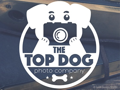 Pet Business Logo Design For Top Dog Photo Company, UK pet industry bone photos canine dogs pets dog photographer pet photography
