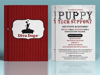 Flyer Design For Diva Dogs Puppy Tech Support Service