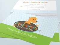 Pet Business Card Design For Snugglemeisters Pet Sitting Pros