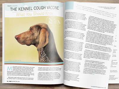Article Layout Design For Pupculture Magazine3 pet design publication design layout design pup canine culture dog magazine pets